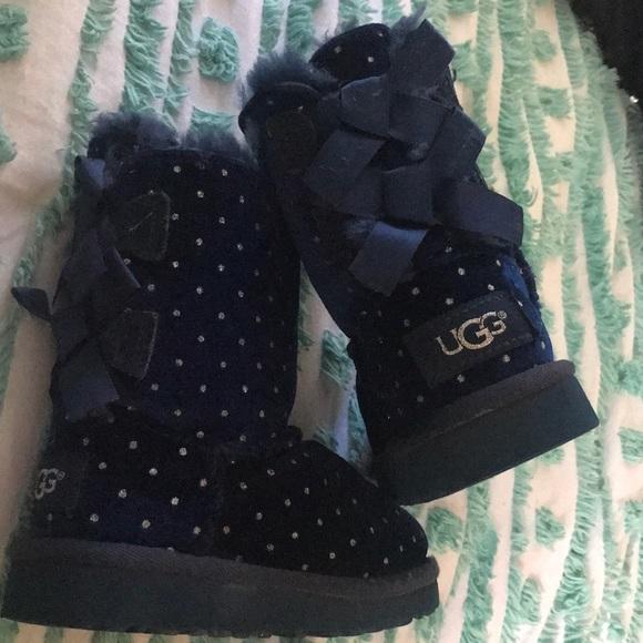 0d5058bdeff UGG kids Bailey bow starlight boot